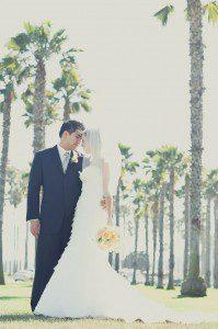 Shannon & Chris Bride Wedding Santa Barbara Palm Trees