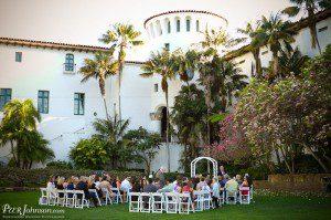santa barbara wedding courthouse sunken gardens
