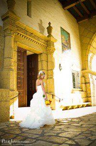 santa barbara wedding courthouse bride