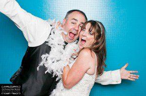 wedding santa barbara photobooth bride groom fun