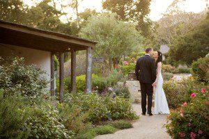 Santa Barbara courthouse wedding and San Ysidro Ranch reception