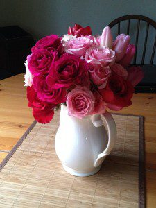 simply bouquets santa barbara valentines day white vase