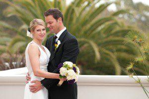 bride groom wedding palm tree bacara santa barbara