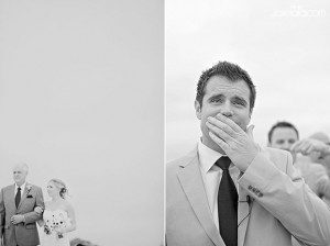 joie lala first look wedding groom crying