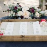 Wooden trays for escort cards 1